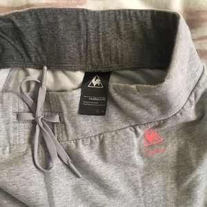 f55053187a Le Coq Sportif Pants - Le Coq Sportif Korea gray cropped sweat pants
